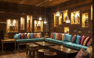 A very cozy and comfortable sitting area in Austur India Fjelagid, the East India Company Restaurant, Reykjavik