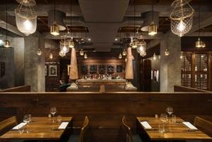 The elegant, minimalist Indian decor at the Austur India Fjelagid Restaurant in Reykjavik
