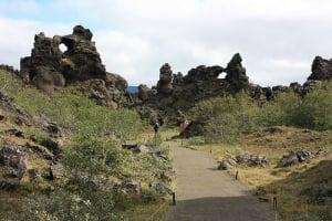 Dimmuborgir walking path