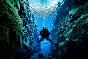 Diving in Silfra with Underwater Photos
