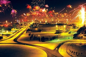 Fireworks in Iceland on New Year's Eve