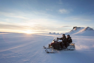 From Golden Circle and Glacier Snowmobile Tour