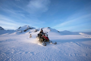 From Golden Circle and Glacier Snowmobiling