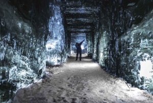 From Hot Spring, Ice Cave & Snowmobile Tour