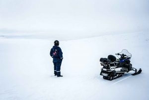 From Langjökull Glacier Snowmobiling Tour