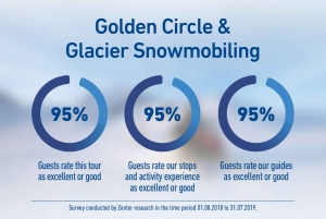 From Reykjavik: Golden Circle and Glacier Snowmobiling