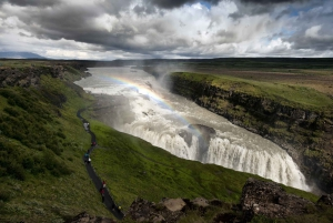 Golden Circle Waterfalls and Volcano Lake Crater by Minibus