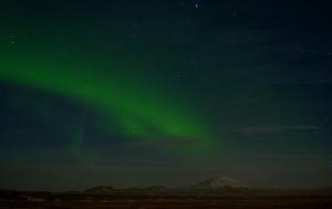 Hekla and the Northern Lights