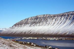 'Ísafjörður hugs the steep sides of Skutuslfjörður bay and spills out onto the small Eyri peninsula.'