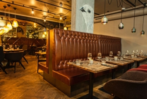 Classy dining area with comfortable lighting in Kol Restaurant