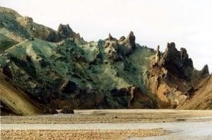 Rhyolite mountains