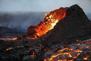 Reykjavik: Active Volcano Hike & Reykjanes Tour