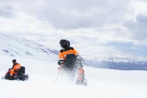 Snowmobiling on Langjokull Glacier from Reykjavik