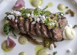 Gourmet Icelandic Lamb served a la nouvelle cuisine at Torfan Restaurant in Reykjavík, Iceland