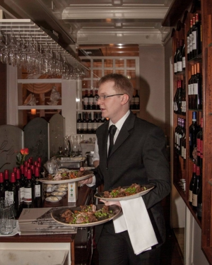 As you would expect at a good French Restaurant, there's never a shortage of good wine.