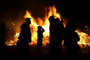 Traditional Icelandic New Year's Eve Bonfire