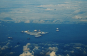 The Westman Islands (Vestmannaeyjar), south Iceland, from the air, from a distance.