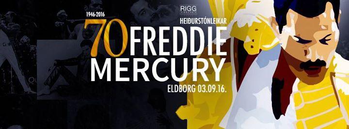Freddie Mercury Sjötugur