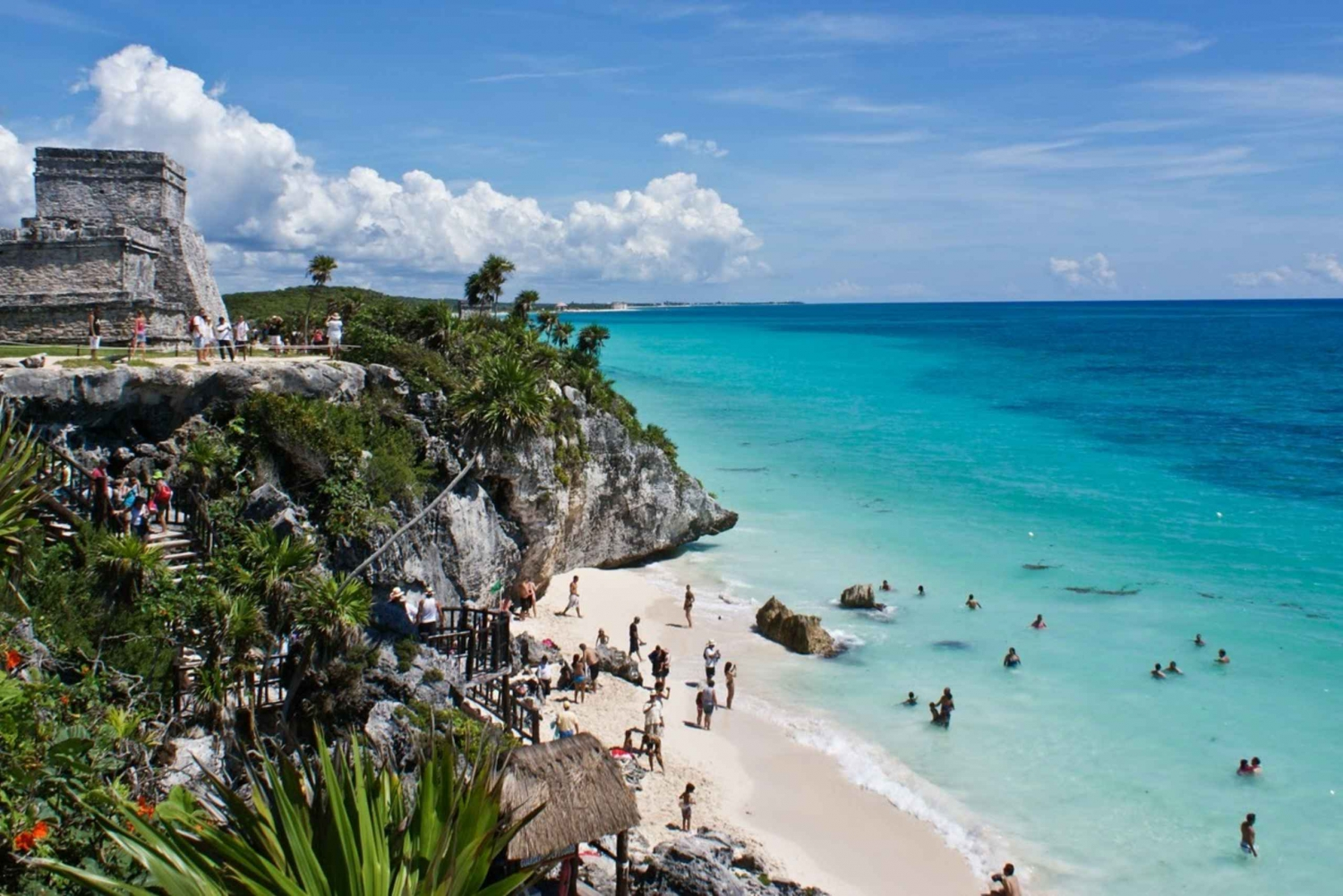 Coba, Tulum, Cenote and Mayan Village Tour with Transport
