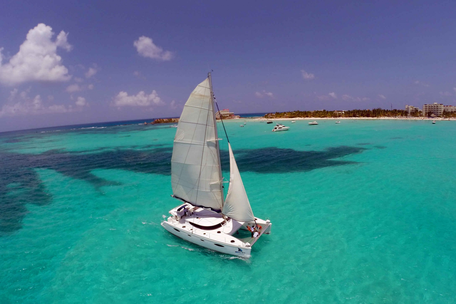 Full-Day Sailing Trip to Isla Mujeres with Transfer Options