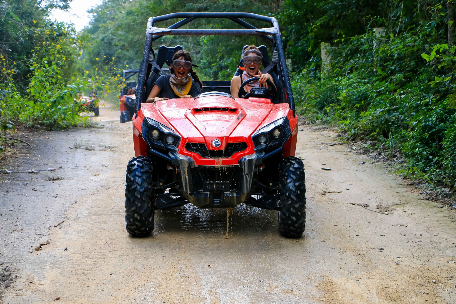 Playa del Carmen 3-Hour Dune Buggy Tour and Cenote Swim