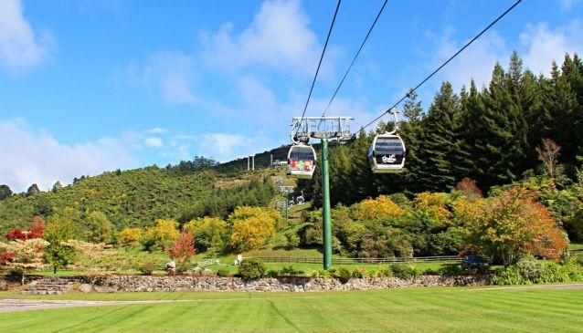 Riding the Rotorua Gondola