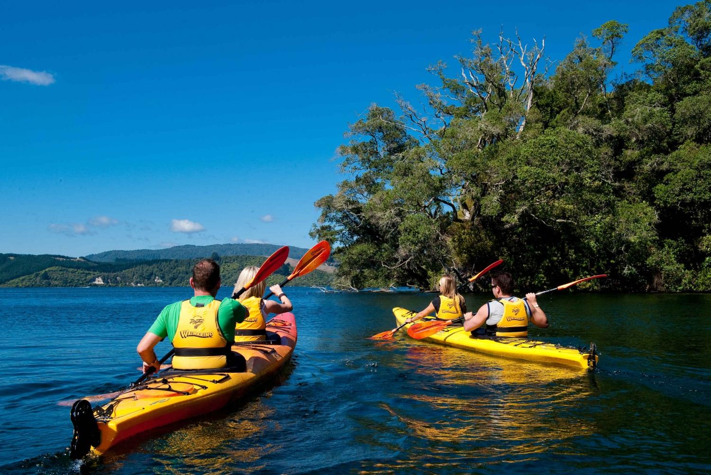 Lake Rotoiti Glow Worm Kayak Tour & Hot Pools