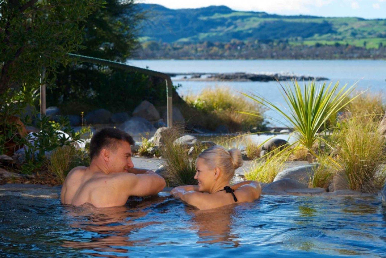 Waitomo & Rotorua Day Tour with Spa Entry from Auckland