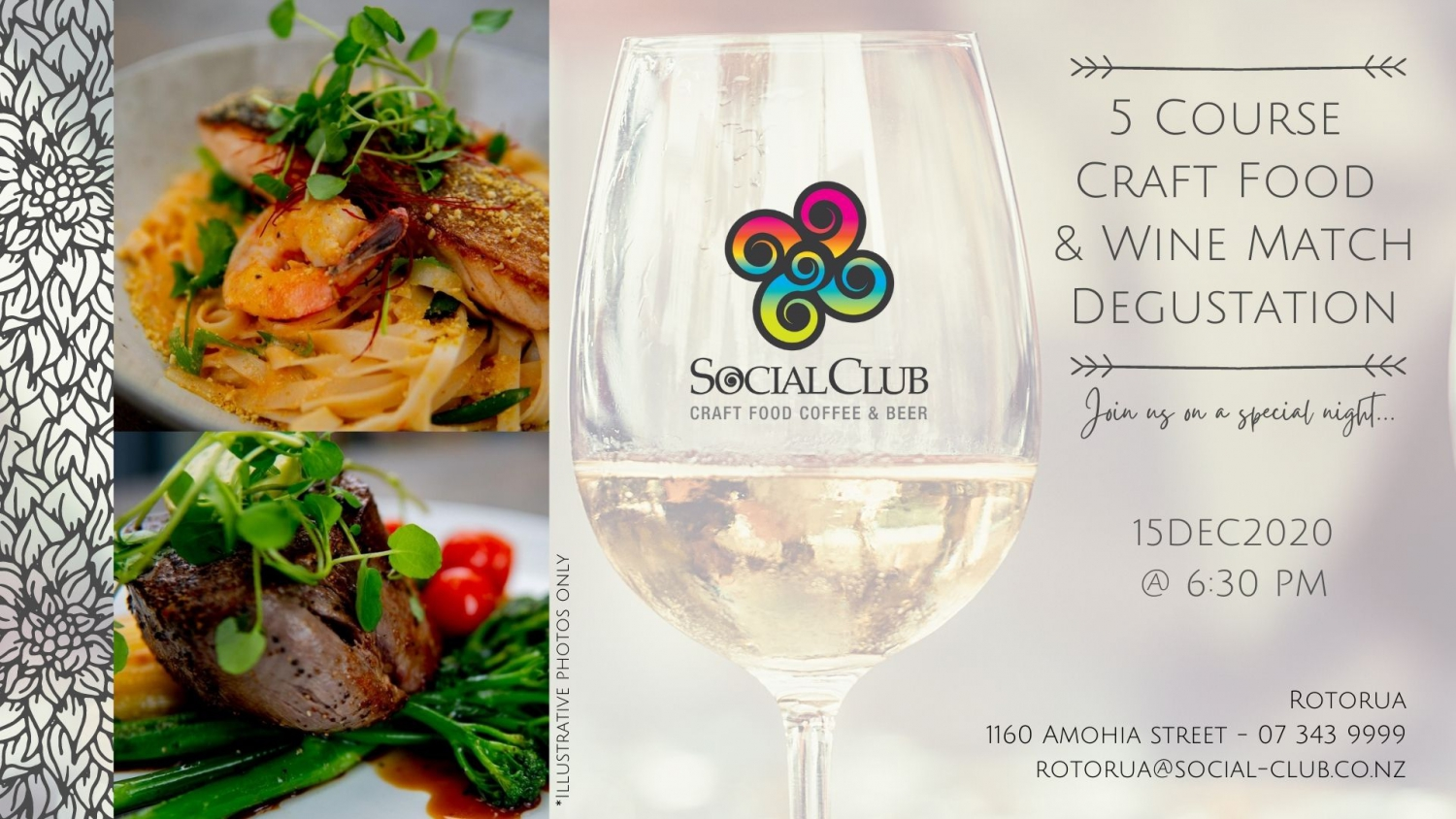 5 courses Creaft Food & Wine Match