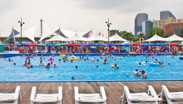 Han River Park and Outdoor Pool Yeouido