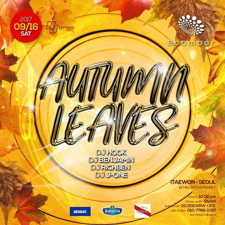 09 / 16 (SAT) 'Autumn Leaves' at BoomBar