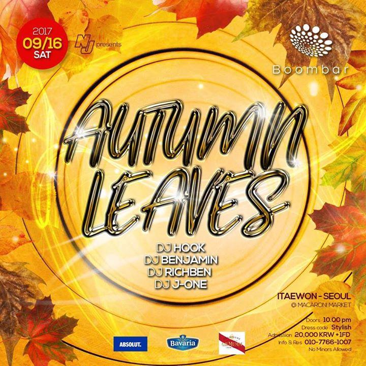 09 / 16 (SAT) 'Autumn Leaves' at BoomBar