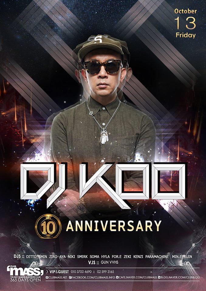 10TH ANNIVERSARY X DJ KOO