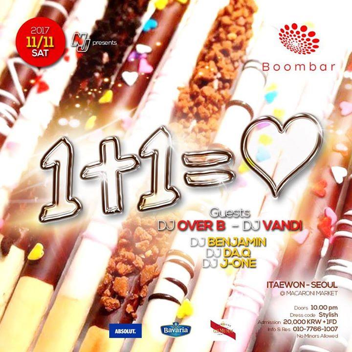 11 / 11 (SAT) '1+1=♡' at BoomBar