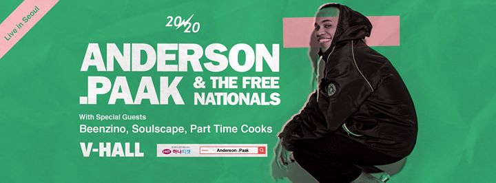20/20 pres: Anderson .Paak & the Free Nationals at V-Hall
