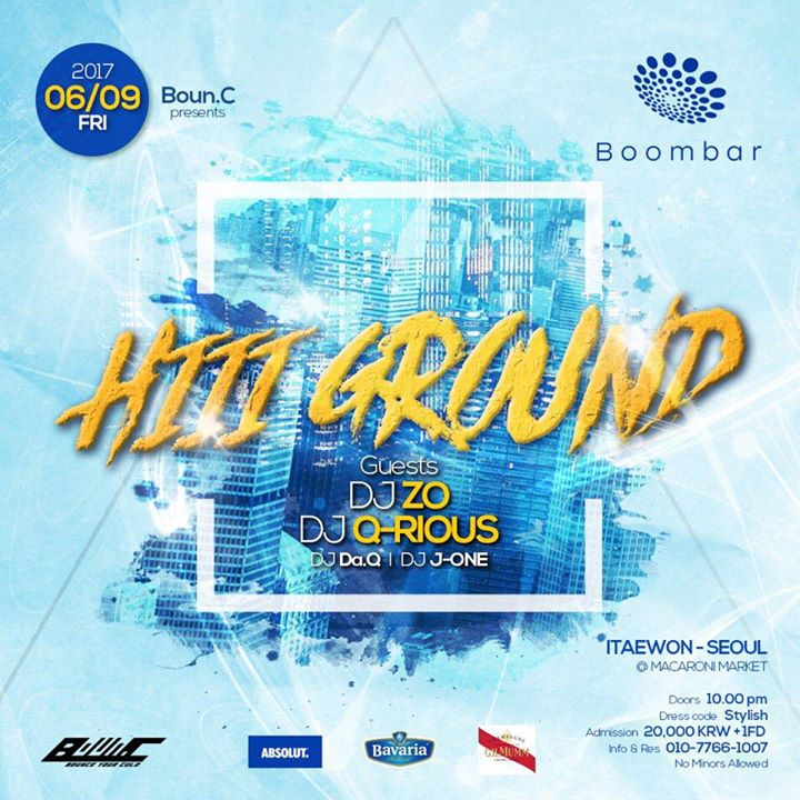 6.9(Fri.) Hiii Ground @Boombar, Itaewon