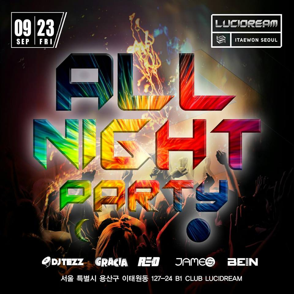 All Night Party at Lucidream