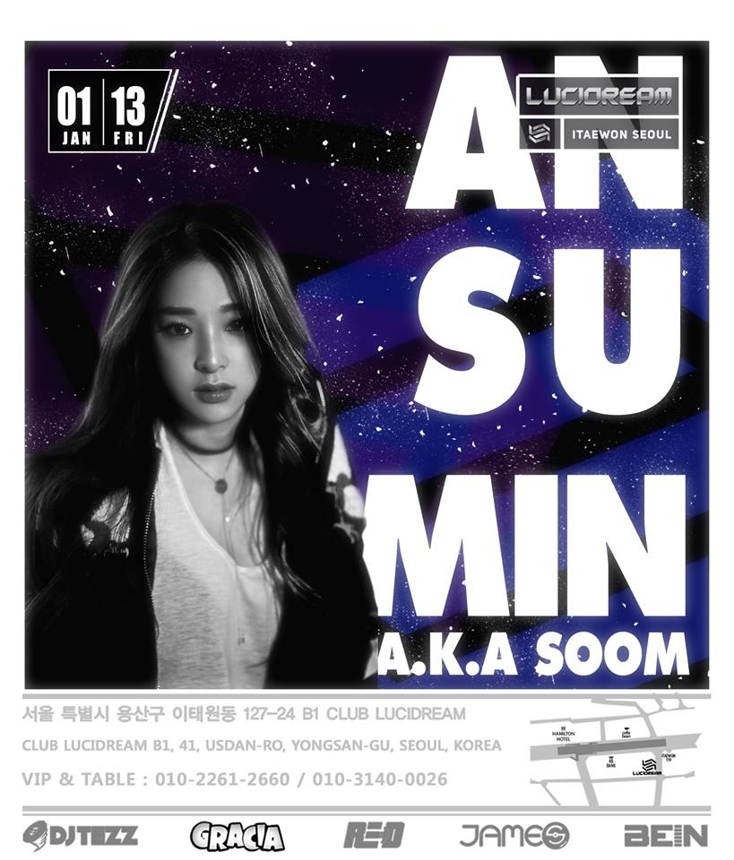 An Su Min A.K.A Soom at Club Lucidream