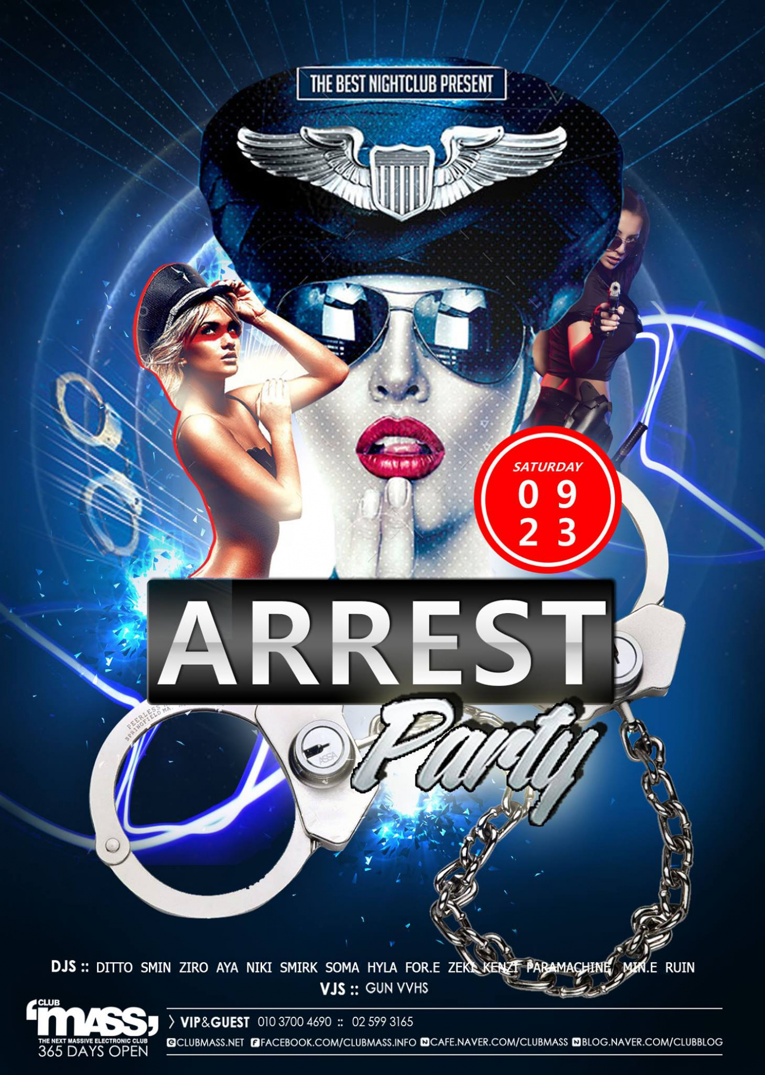 ARREST PARTY at Club Mass
