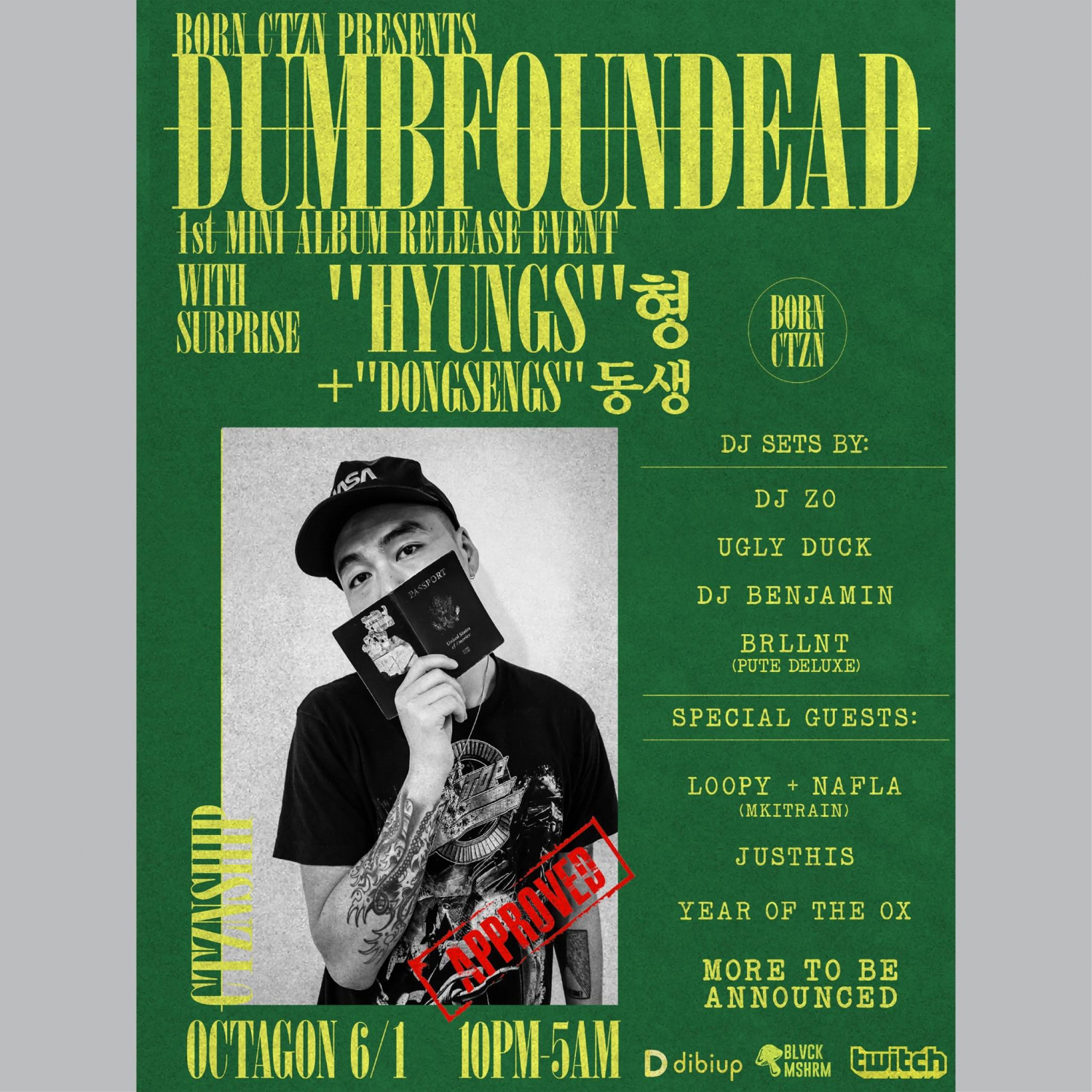BORN CTZN Presents Dumbfoundead 1st Mini Album Release Party