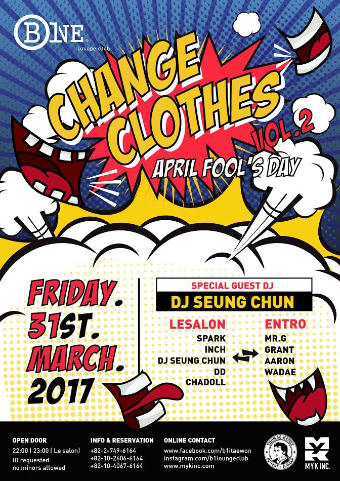 Change Clothes April Fool's Day Party