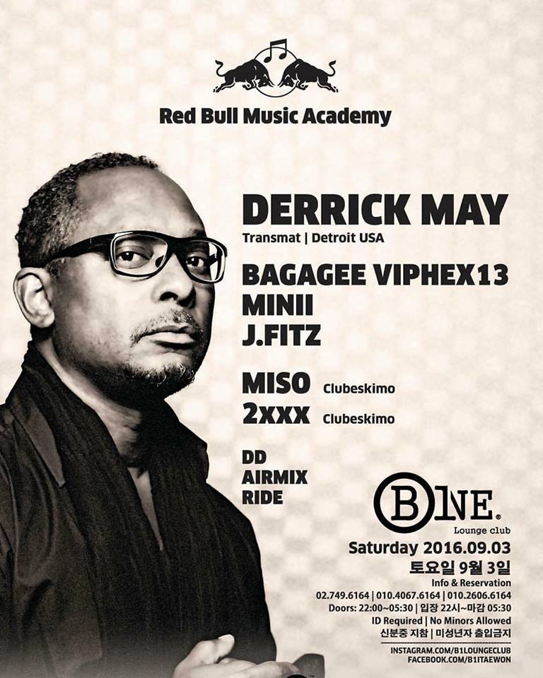 Derrick May exclusively at B One Lounge Club