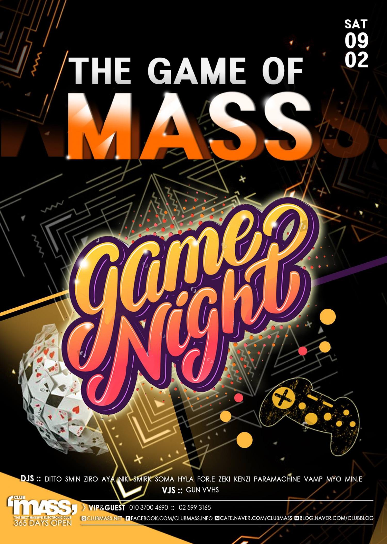 Game Night at Club Mass