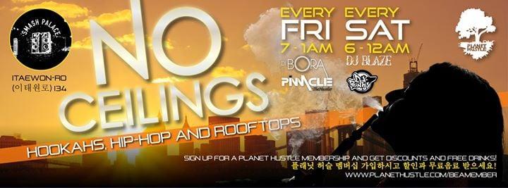 Hookahs, Hip Hop & Rooftops - Saturday
