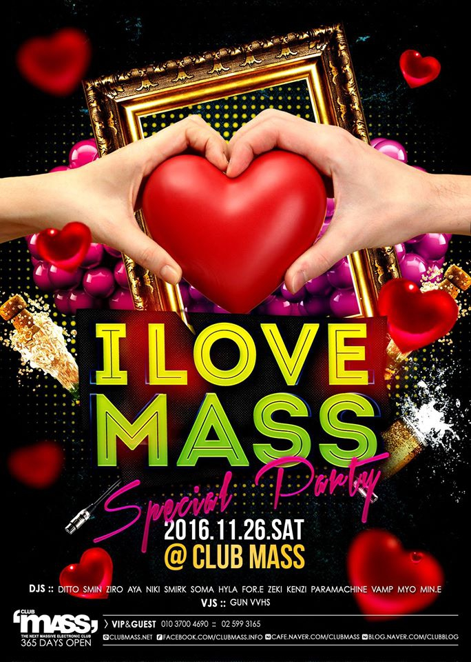 I LOVE MASS PARTY at Club Mass