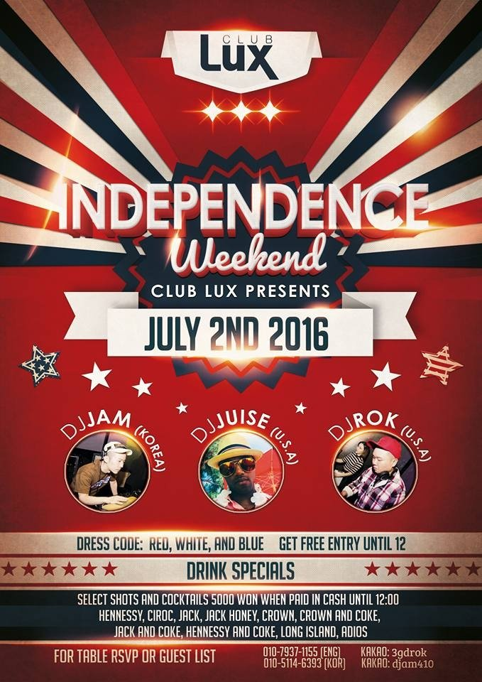 Independence Day Party @ Club Lux