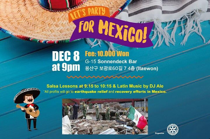 Let's Party for Mexico! (earthquake relief Latin night fundraiser)