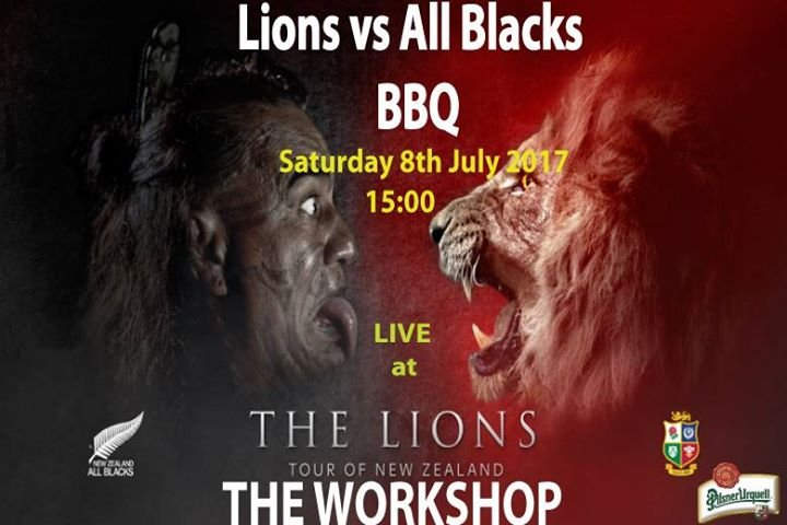 Lions vs All Blacks BBQ at The Workshop