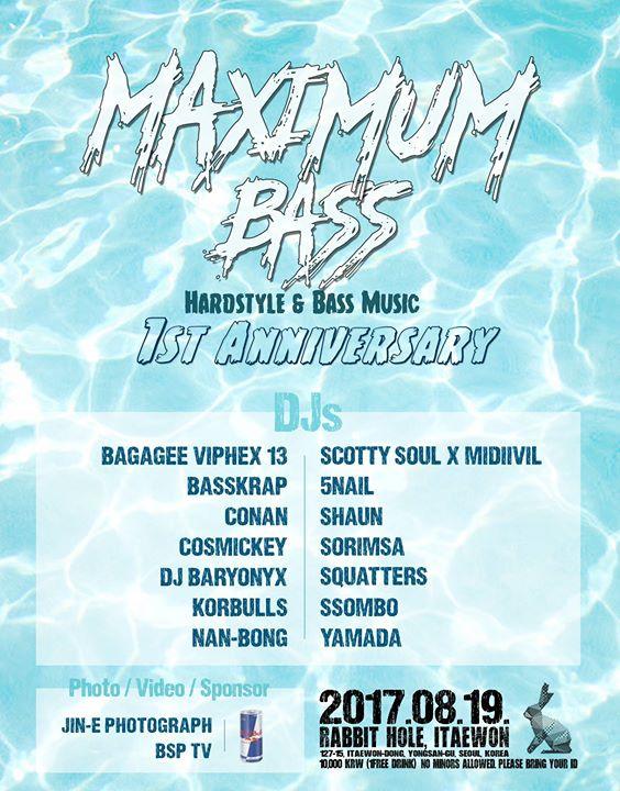 Maximum Bass 1st Anniversary Party at Rabbit Hole, Itaewon