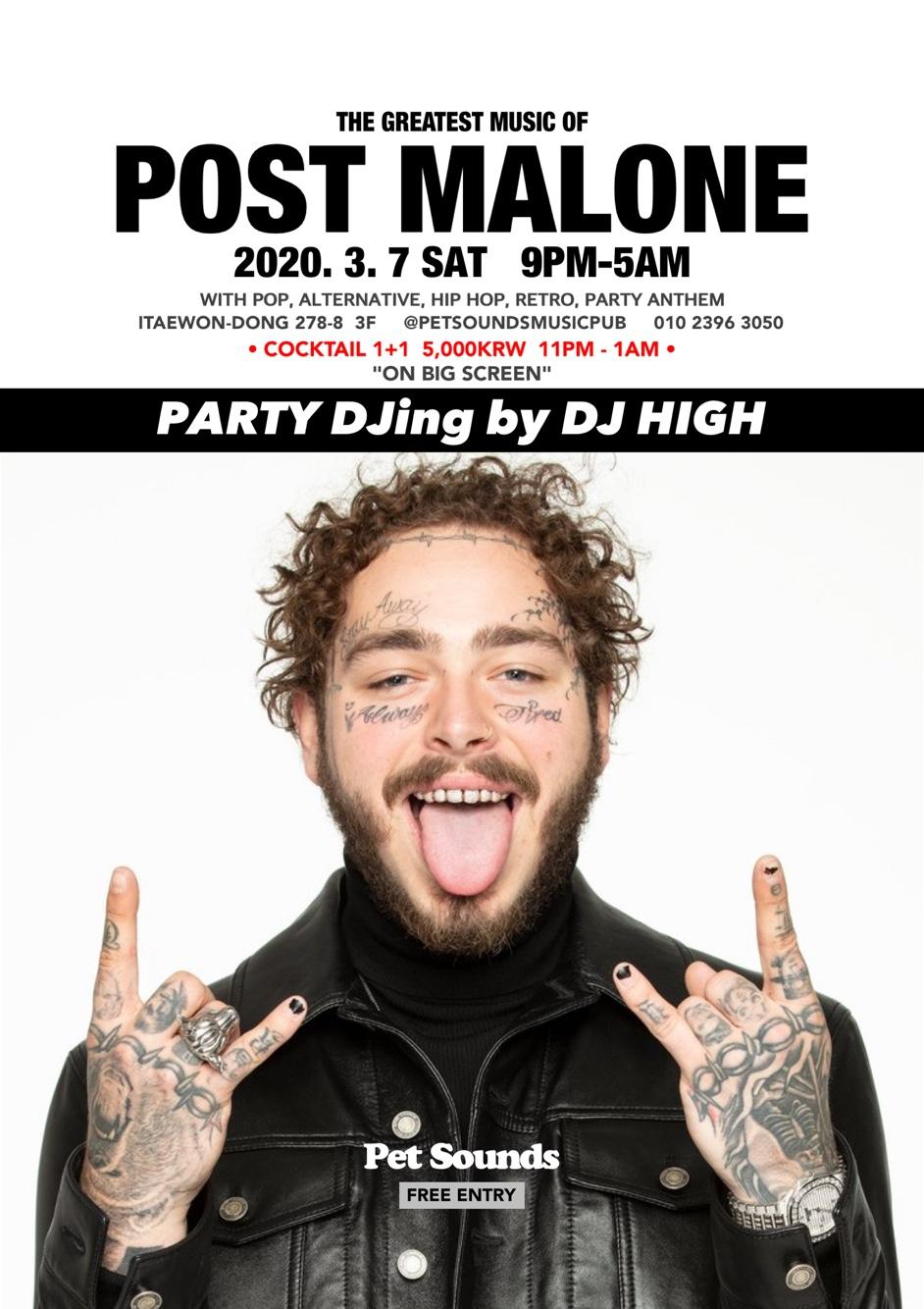 Post Malone night @ Petsounds
